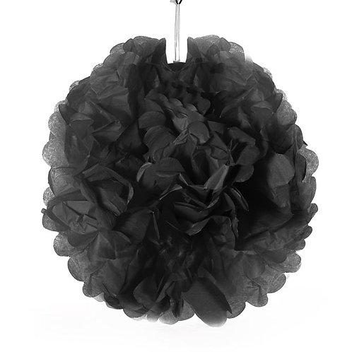 Tissue Pom Pom -Black