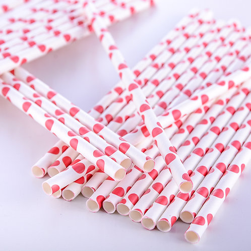 Paper Straws - Polka Dots