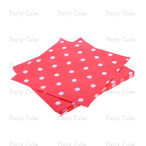 Party Paper Napkins Polka Dot  (12 Pack)
