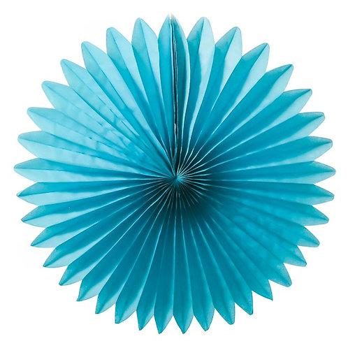 Paper Tissue Fan Decoration-Blue
