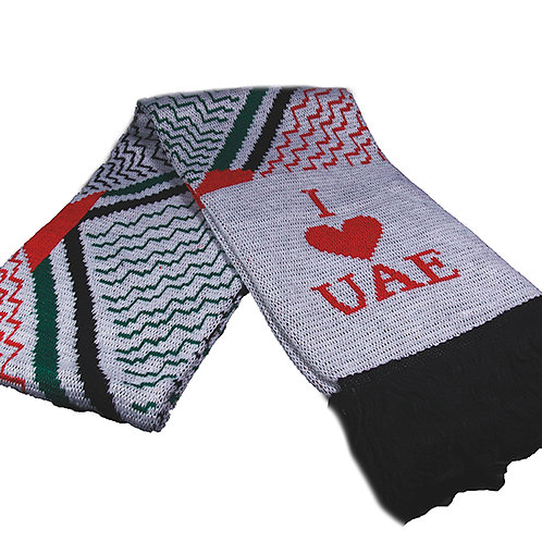 Knitted Scarf ( I love UAE )