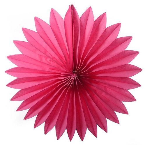 Paper Tissue Fan Decoration - Fuchsia