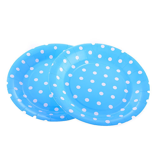 Round Party Polka Dot Paper Plates (12 Pack)