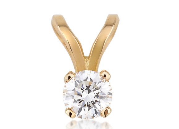 תליון זהב משובץ יהלום
