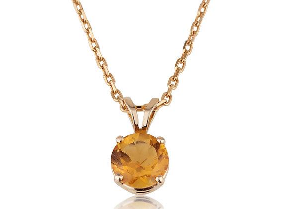 תליון זהב משובץ סיטרין-מתנה בקניה
