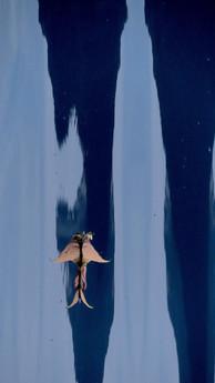 Ange.  Matières, dessins, figures, aplats chromatiques, surréalisme.
