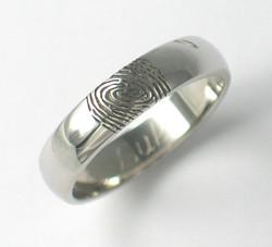 Fingerprint Wedding Rings