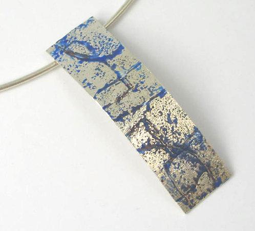 B004: Silver and Enamel Pendant.