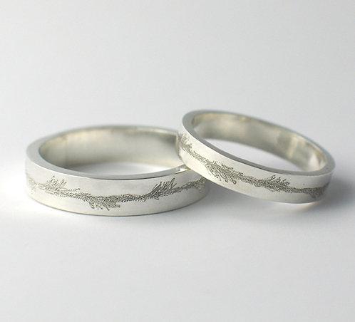 T016: Flat Shaped Wedding Rings