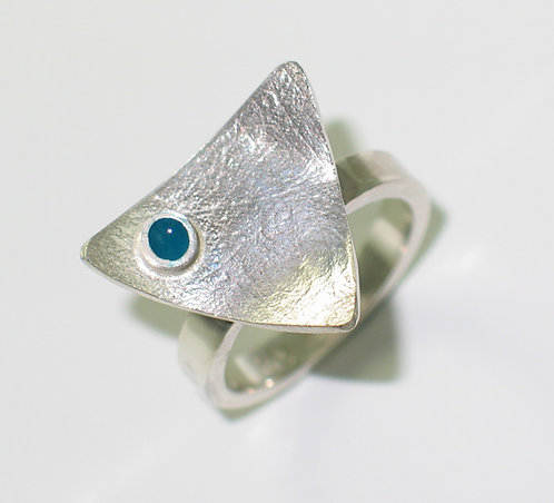 J016: Silver and Enamel Ring.