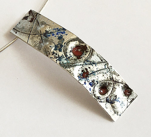 B009: Silver and Enamel Pendant.
