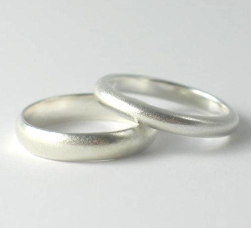 T015 D Shaped Wedding Rings