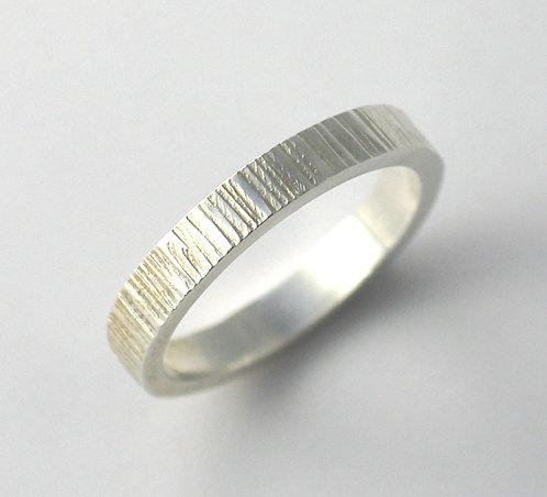 T006: Line TexturedDesign. 3mm Ring.