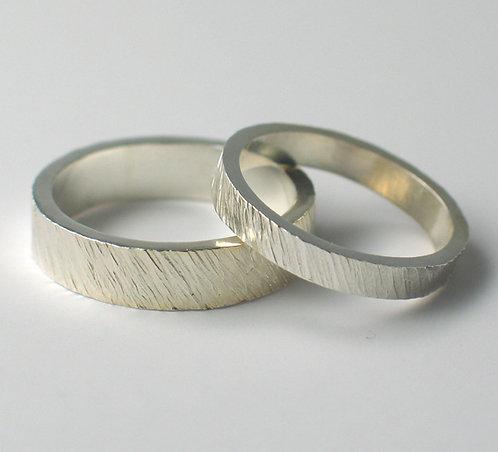T002: Flat Shaped Wedding Rings