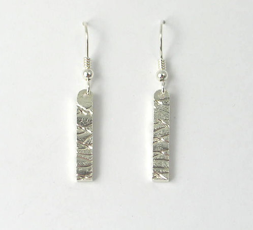 G012: Silver Textured Earrings.