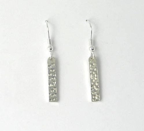 M018: Silver Dot Earrings.