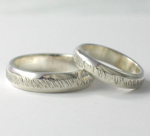 T007: D Shaped Wedding Rings.