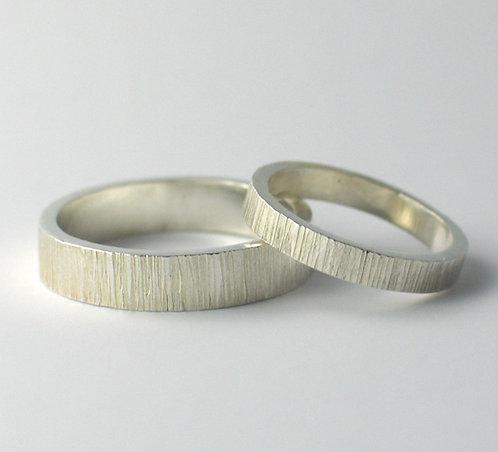 T006: Flat Shaped Wedding Rings