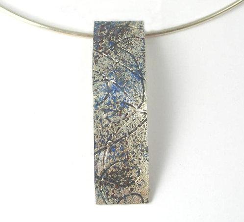 B008:Silver and Enamel Pendant.