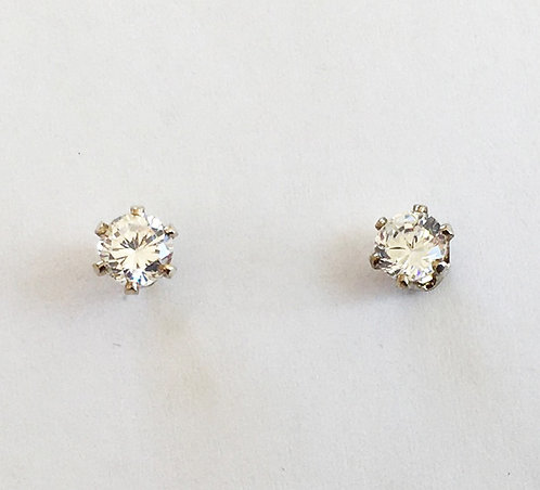 E007: Claw Set Stud Earrings.