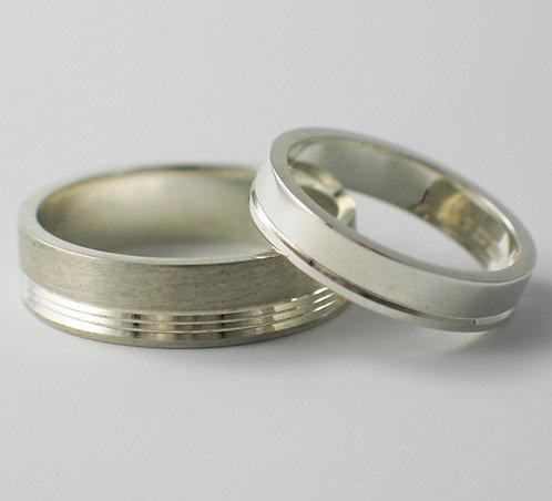 T020: Flat Shaped Wedding Rings