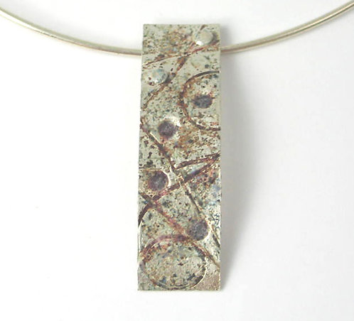 B005:Silver and Enamel Pendant.