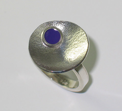 J013: Silver and Enamel Ring.