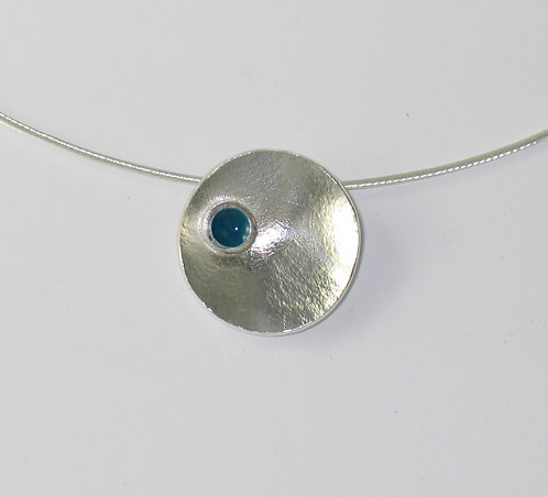 J011: Small Silver and Enamel Pendant.