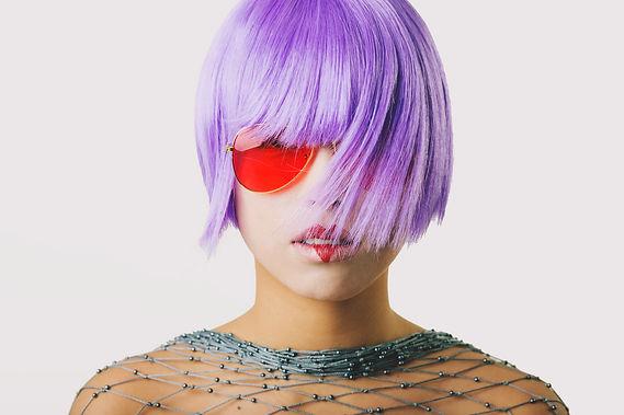 Purple Bob HairCut