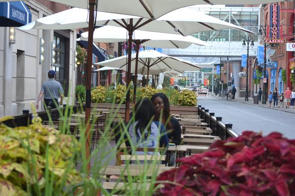 Streetscape Elements in Greektown, Detroit