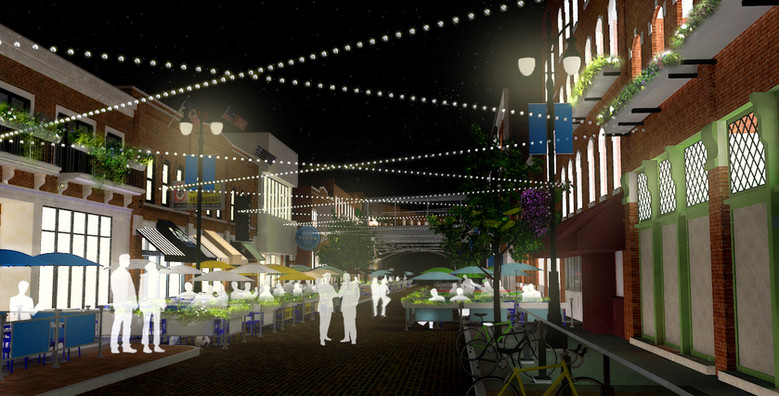 Greektown Detroit Streetscape Concept