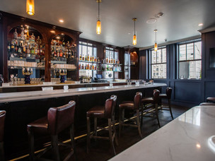 Bar millwork complete at Detroit's new Monarch Club