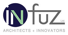 Infuz Logo - Full Color - Thick White Bo