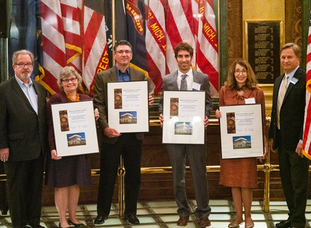 Infuz accepts 2019 Governor's Award for Historic Preservation