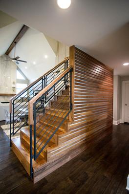 Custom Built Stairwell in Metro Detroit.