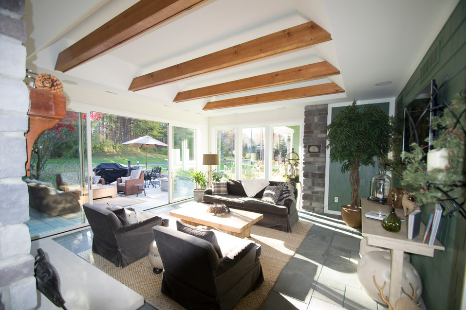Indoor Outdoor Sunroom Addition