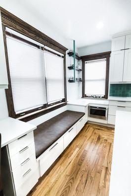 Window Seat - Detroit Kitchen Renovation