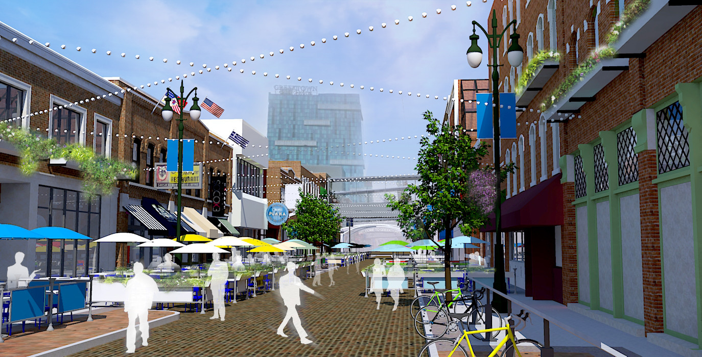 Greektown Streetscape Concept