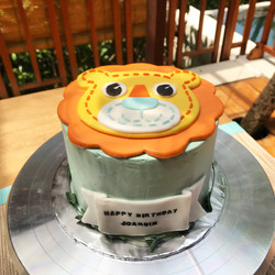 Baby First Birthday Lion Cake