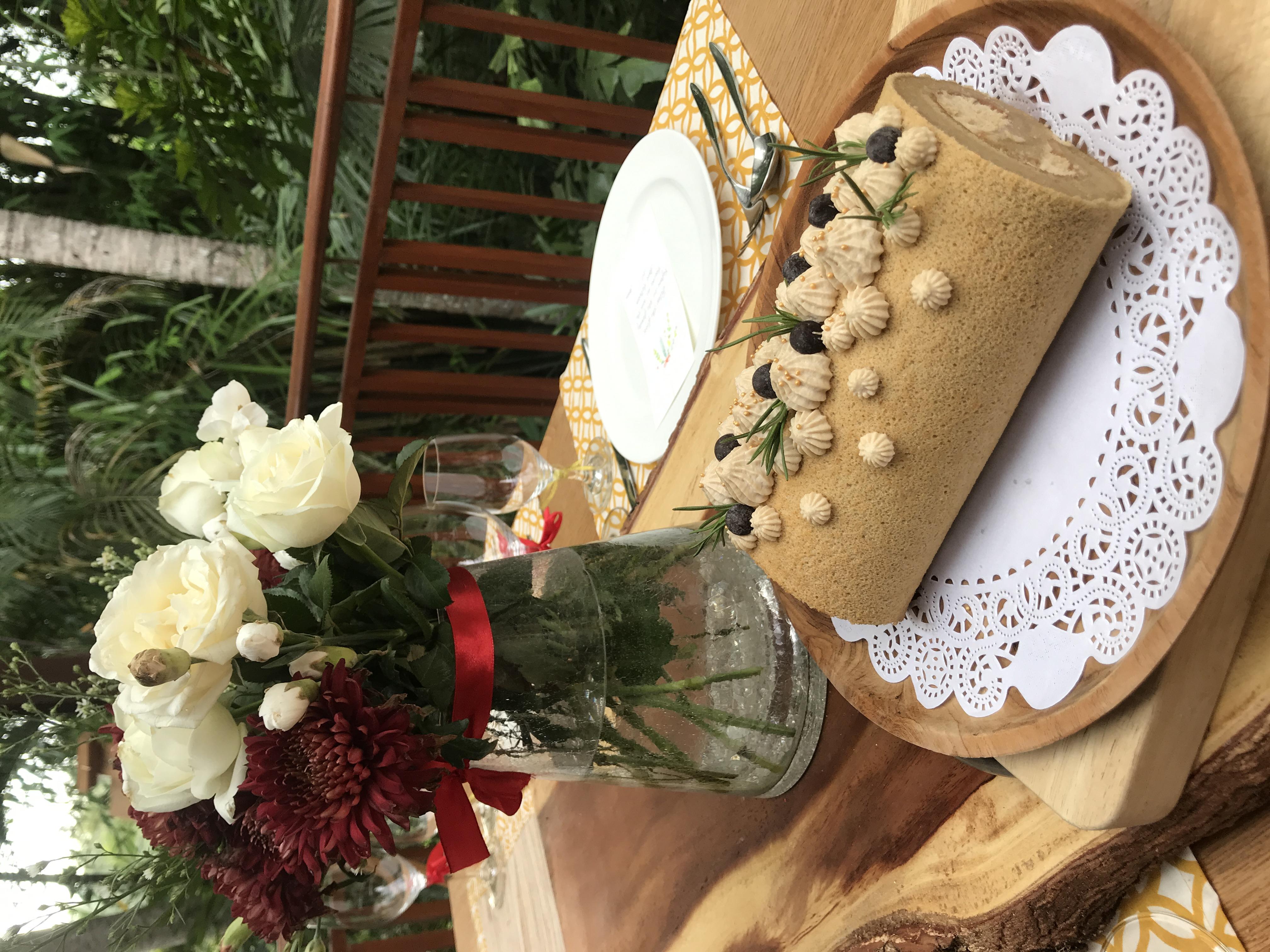 Christmas Coffee Yule Log Cake