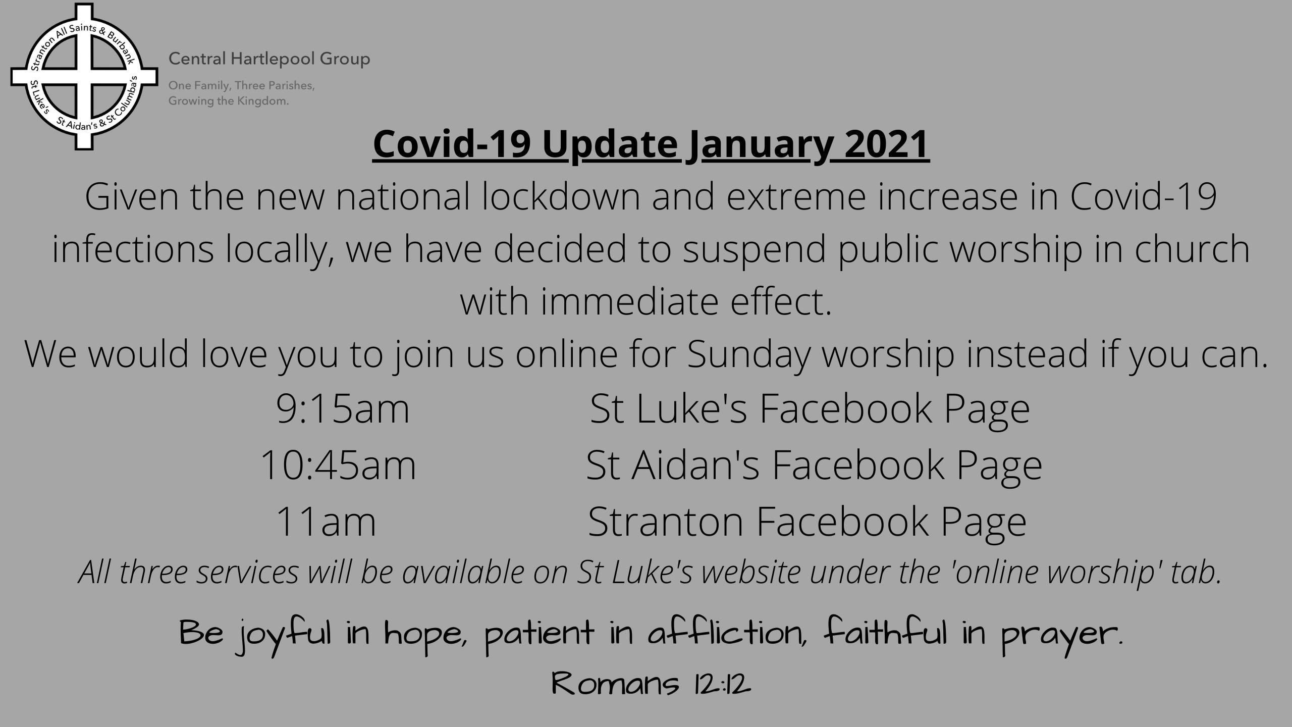 Covid-19 Update Jan 2021 website