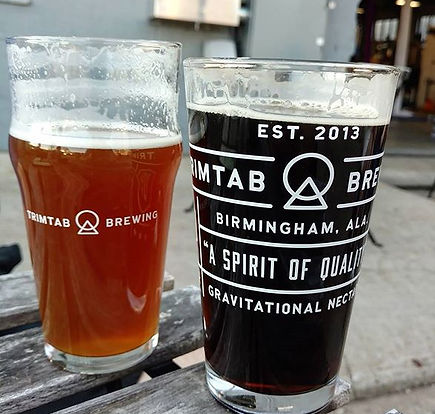 Beer glasses from TrimTab Brewing in Birmingham