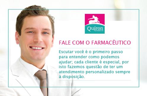 Fale co o farmacêutico Quíron equpe de farmacêuticos qualificados