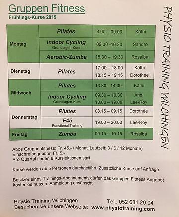 Gruppenkurse Pilates Therapie