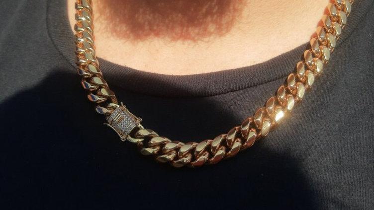20 inch 10mm necklace CZ BOX LOCK