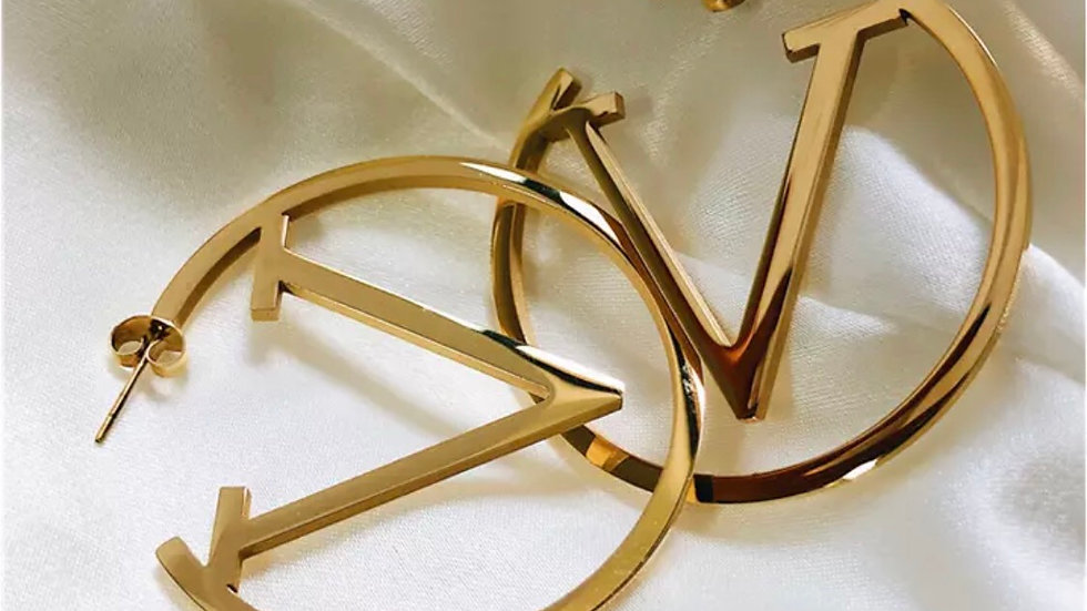 Valentino style Gold luxury earrings
