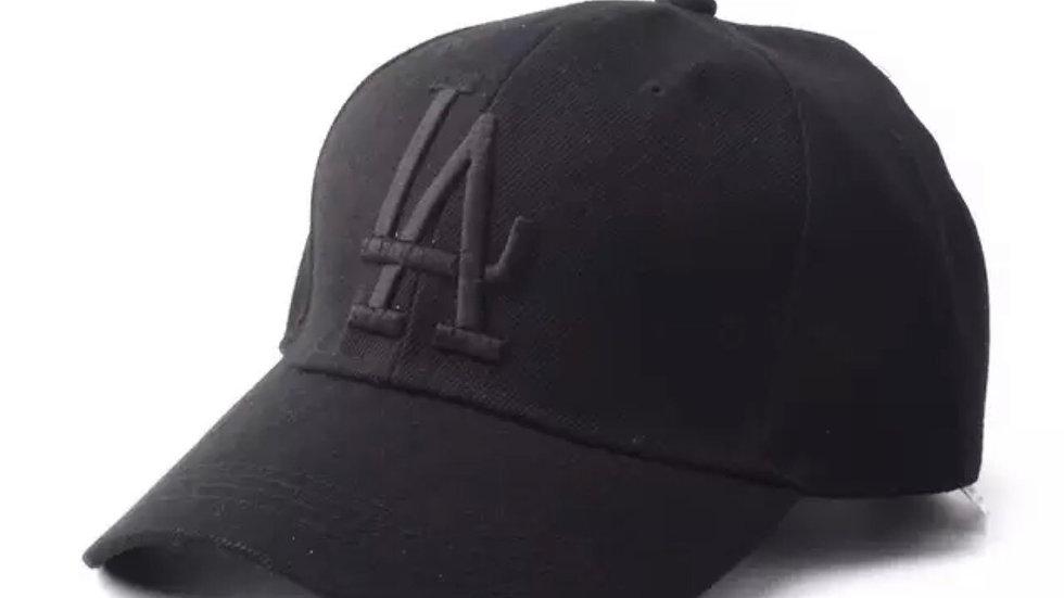 Unisex All Black LA Dodgers baseball hat