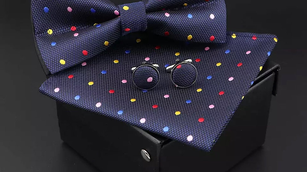 Blue Bow tie Set