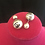 Thumbnail: Designer CC 10mm pearl earrings