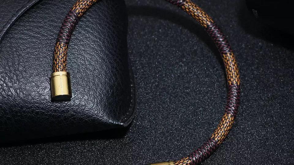 Brown & Gold magnetic bracelet